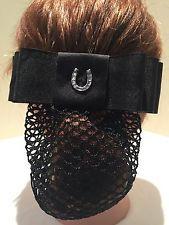 -black-equestrian-rider-hair-barrette-fabric-bownet-whorse-shoe-pendant