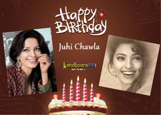 "Let's Wish a Happy Birthday  to one of the Most Gorgeous Beauty of #Bollywood ""#JuhiChawla"". Shopper99 wish her many-many happy returns of the day with best wishes..  #HappyBirthdayJuhiChawla"