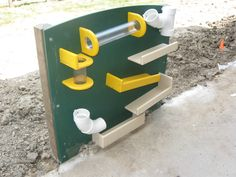 preschool playground ideas | this playground equipment is a fun way to learn cause