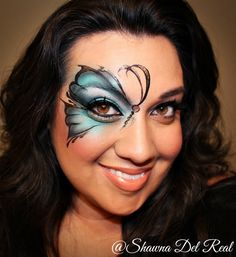 Butterfly airbrush face painting Tutorial