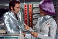 Space outfits from TV show UFO. It was acceptable in the 1960s version of 80s!