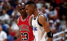 Penny Hardaway and Michael Jordan