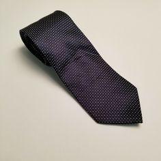 New SEAWARD /& STEARN Chocolate Brown-Purple Ovals Silk Tie Handmade in England