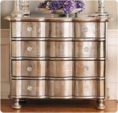Metallic Paint on Old Wood Furniture, http://hative.com/creative-diy-painted-furniture-ideas/