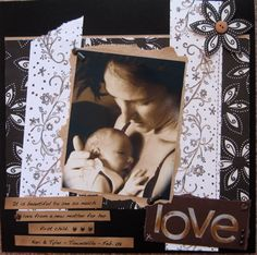 Baby or wedding page layout
