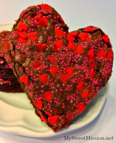 Adorable Heart Shaped Brownies by MySweetMission.net