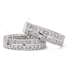 by Christian Bauer Wedding Engagement, Wedding Bands, Princess Cut Diamonds, Platinum Wedding, Bracelets, Rings, Silver, Christian, Accessories