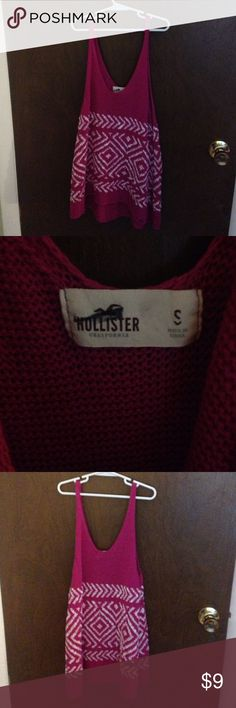 Knit Tribal Hollister Tank Cozy fuschia knit tank from Hollister Hollister Tops Tank Tops Hollister Tops, Fashion Design, Fashion Tips, Fashion Trends, Cool Style, Cozy, Tank Tops, Knitting, Outfits