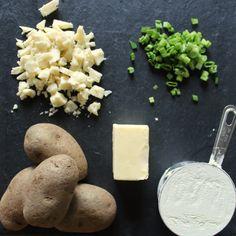 skillet potato scones with cheese