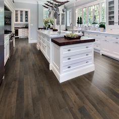 Home Kitchens, Kitchen Remodel, Kitchen Design, Kitchen Flooring, Home Remodeling, White Kitchen Design, Home Decor Kitchen, House Flooring, Modern Farmhouse Kitchens