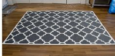 Check out this hand-painted rug from Pudel-design. She bought a plain rug from ikea, made a stencil, and two days later had a super cool and one of a kind rug! Love it.