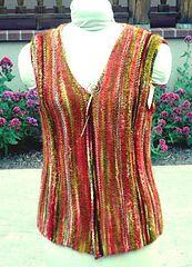 Vertically striped knit vest pattern by Liz Ungar on Ravelry