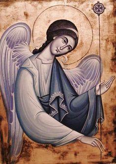 .Αγγελος__ Byzantine Icons, Byzantine Art, Religious Icons, Religious Art, D N Angel, Angel Artwork, Religious Paintings, Egg Art, Art Icon