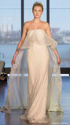 francesca miranda bridal spring 2017 strapless straightacross sheath wedding dress (mia) mv