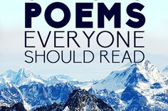 IDK if I pinned this already but I'mma pin it again. 36 Life Changing Poems Everyone Should Read