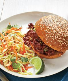 Sweet-and-Sour Sloppy Joes With Sesame Slaw Recipe