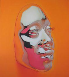 Diovadiova: AfroFuturistic chrome masks portraits by Kip Omolade