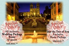 Wedding In Italy 2 Special Offers For Destination Weddings Rome See Details Of These All Inclusive Packages At Www Weddingsandco Co Uk