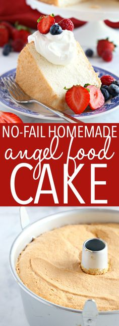 The BEST homemade angel food cake recipe that's tender, fluffy, and easy to make with my pro tips! It's WAY better than a box mix!