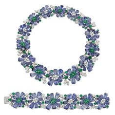 Sapphire and diamond demi parure by Oscar Heyman – Simon Teakle