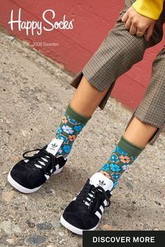Colorful socks and underwear designed in Sweden. Over 200 unique designs to add uniqueness to your outfit. Women's Socks, Knee Highs, High Knees, Colorful Socks, Happy Socks, Fashion Socks, Retro Design, Flower Power, Cloths