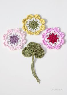 Crochet flowers by Anabelia Craft Design