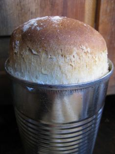 Homemade Bread Recipe: In an Upcycled Can for Fun!
