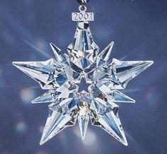 3164eec48 Swarovski 2001 crystal snowflake star annual ornament never displayed  Swarovski Ornaments, Swarovski Crystal Figurines,