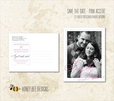CLASSY ELEGANCE Save the Date - Elegant Stylized Script Save the Date Postcard - Text & Engagement Photo Options - Printable Digital Files