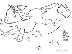 My Vintage Mending: Mending Monday--Giraffes and Donkeys...oh my!