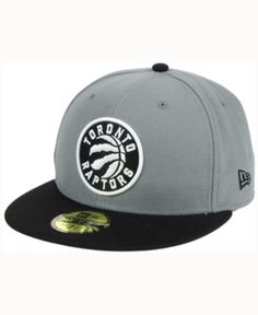 New Era Toronto Raptors 2-Tone Gray Black 59FIFTY Cap - Gray 7 1 2 050df4b19f1d
