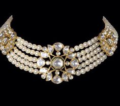 Kundan / uncut diamond / polki necklace