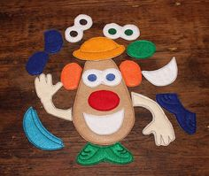 Mister Spud Head Felt Game with multiple by cabincraftycreations, $8.00