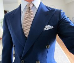 Blue  double breasted jacket. Very nice.