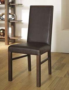 lyon walnut standard leather dining chairs brown pair walnut
