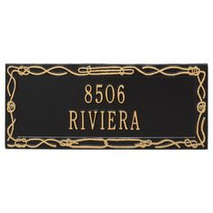 Personalized Sailor's Knot Nautical Address Plaque - Two Lines Available now at the best price only at www.everythingnautical.com  #Nautical #Home #Decor #Gifts