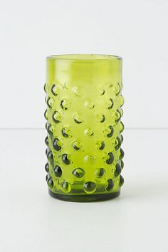 Love this green!   Knobby Juice Glass #anthropologie