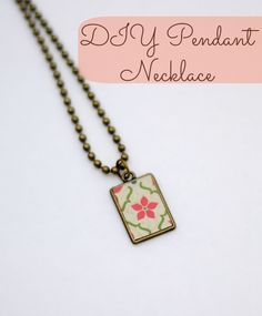 Easy DIY Pendant Necklace using Mod Podge Matte and Jewel Glue!