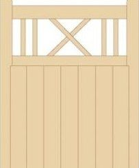 4FT TALL COTTAGE GARDEN GATE REDWOOD MED DUTY (1050 MM WIDE): Amazon.