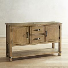 Siena Natural Buffet Table Brown