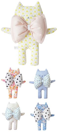 STUFF I WANT... A super cute bow tie cat from Youttle!   Handmade Toys, Kittens, Cats, Softies, Plush Toys