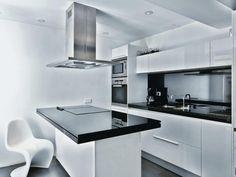 Kitchen at Contemporary Apartment Interior Design