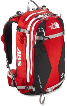 The North Face Patrol 24 ABS avalanche airbag pack enhances protection for winter pursuits in the backcountry. Its innovative airbag system helps prevent burial in an avalanche.