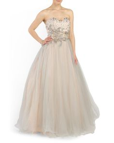 ed1bba35a76 Strapless Ball Gown - Formal - T.J.Maxx