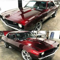 I actually love this color scheme for this black matte chevy camaro Custom Muscle Cars, Chevy Muscle Cars, Custom Cars, Black Cherry Paint, Bmw Autos, Auto Retro, Sweet Cars, Us Cars, Chevrolet Camaro