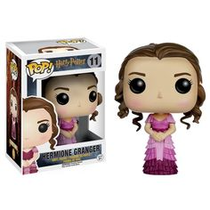 This is the Hermione Granger Yule Ball POP Vinyl Figure that is produced by Funko. Harry Potter fans are sure to be excited by this version of Hermione. She looks great in her Yule Ball dress and it's Harry Potter Hermione Granger, Gina Harry Potter, Objet Harry Potter, Ron Weasley, Figurine Pop Harry Potter, Harry Potter Pop Vinyl, Harry Potter Action Figures, Funko Harry Potter, Figurine Star Wars
