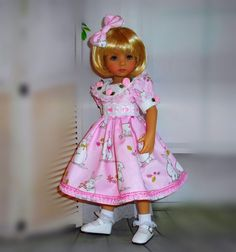 """Handmade dress and hair bow fits Dianna Effner 13"""" little darling doll in Dolls & Bears, Dolls, Clothing & Accessories, Fashion, Character, Play Dolls 