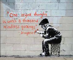 One Original Thought Banksy Graffiti Art 8x10 by davidsphotography, $9.95