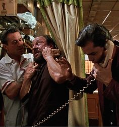 """Goodfellas The word """"fuck"""" and its other tenses are used 321 times for an average of per minute. About half of them are said byJoe Pesci. At the time of the films' release this was the most profanity of any movie in history. It is currently Tommy Devito, Goodfellas 1990, Mafia Crime, Ray Liotta, Gangster Movies, Funny Questions, Cult Movies, Watch Movies, Best Cinematography"""