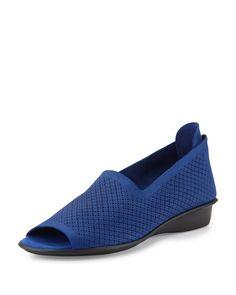 Eadan Open-Toe Demi-Wedge Sandal, Bluette, Women's, Size: 9.0C - Sesto Meucci